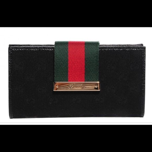 1a17856a27cc Gucci Bags | Monogram Ladies Web Continental Wallet Black | Poshmark